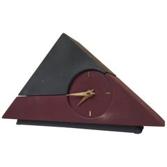 Triangular Modernist Table / Desk Clock by Junghans, Germany, 1970s