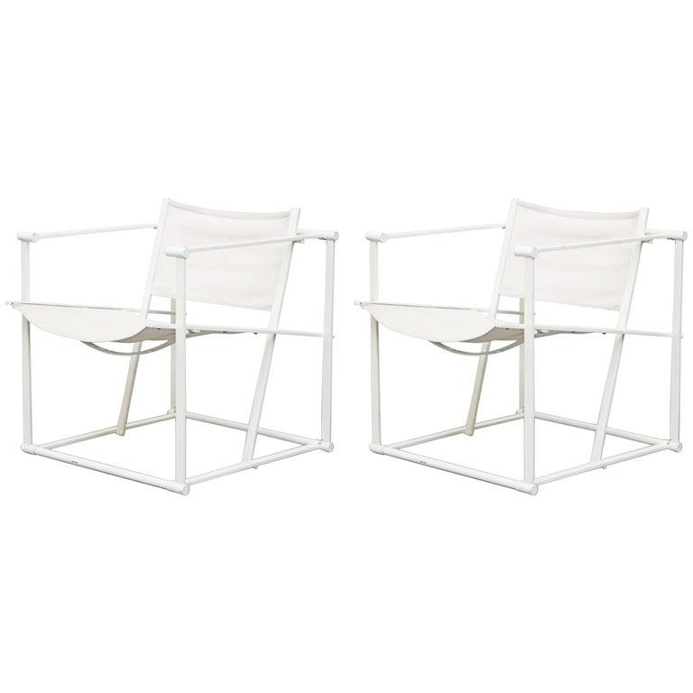 Canvas Pastoe Cube Lounge Chairs by Radboud Van Beekum