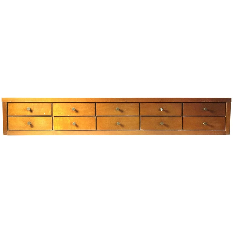 Paul McCobb Planner Group Jewelry Chest of Ten Drawers