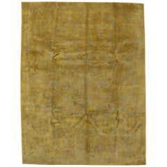 Vintage Gold Tibetan Area Rug with Modern Traditional Style