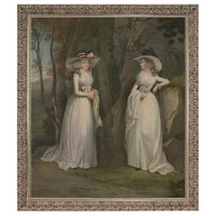 Eleanor and Margaret Ross, after Neoclassical Oil Painting by Alexander Nasmyth