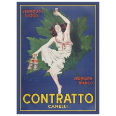 Contratto Vermouth, after Belle Époque Oil Painting by Leonetto Cappiello
