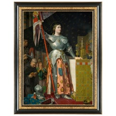Joan of Arc, after Renaissance Revival Oil Painting by Jean Ingres