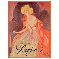 Parisys Champagne, after Belle Époque Oil Painting by Jean-Gabriel Domergue