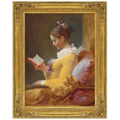 The Reader, after Romantic Oil Painting by Jean-Honoré Fragonard