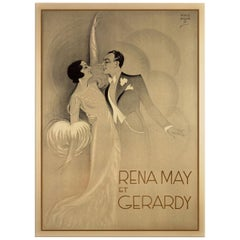 Rena May et Gerardy, after Art Deco Poster by the Artist Harford