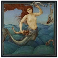 Sea-Nymph, after Pre-Raphaelite Oil Painting by Edward Burne-Jones