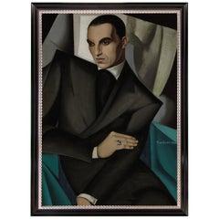 Portrait of Tadeusz de Lempicka by Tamara de Lempicka, Art Deco Expressionism