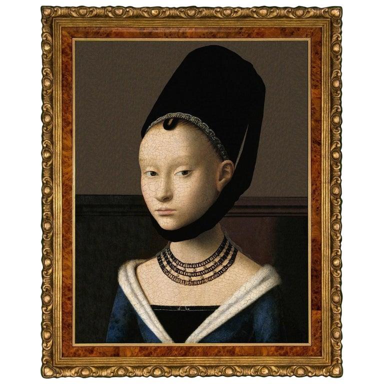 Portrait of a Woman, after Oil Painting by Renaissance Artist Petrus Christus