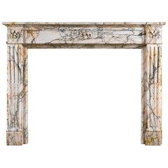 Louis XVI Style Skyros Marble Fireplace Surround