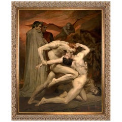 Dante and Virgil, after Oil Painting by French Artist William-Adolphe Bouguereau