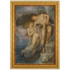 L'Amour Sauve Des Eaux, After Belgian Belle Epoque Artist Paul Artot, Fine Art