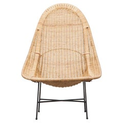 1950s Natural Basket Lounge Chair by Kerstin Holmquist