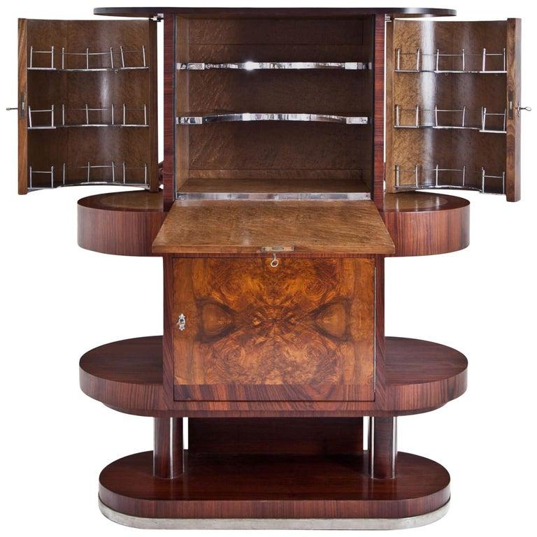 vintage art deco bar cabinet for sale at 1stdibs. Black Bedroom Furniture Sets. Home Design Ideas