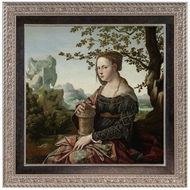 Mary Magdalene, after Renaissance Oil Painting by Dutch Master Jan Van Scorel
