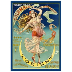 Theater Geant Poster, after Art Nouveau Vintage Poster, Belle Époque Era