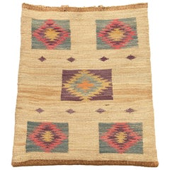 Antique Native American Woven Cornhusk Bag, Plateau, 19th Century