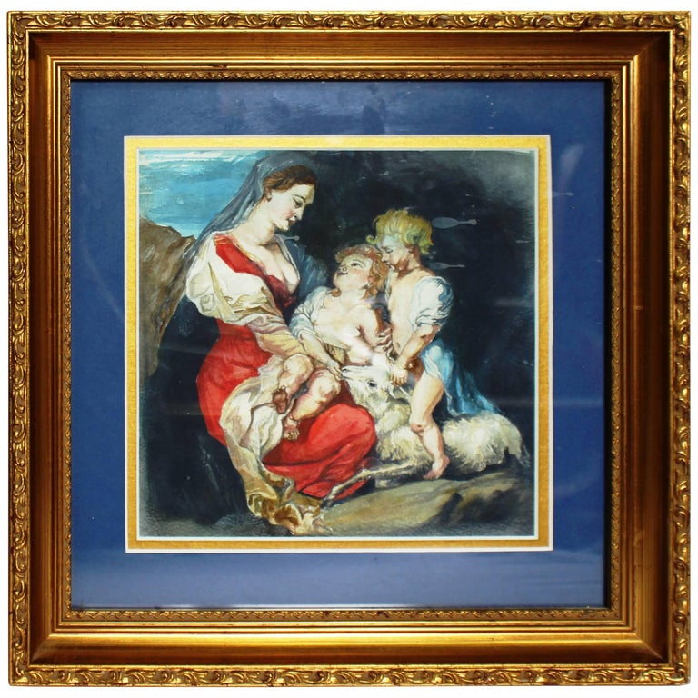 Very Nice Watercolor in Gilt Frame