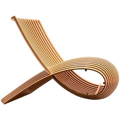 Wooden Chair by Marc Newson in Bent Natural Beech Hardwood for Cappellini