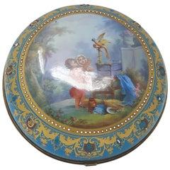 Sèvres Style Paris Porcelain Round Box