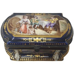 Paris Porcelain Hand-Painted Jewellery Box