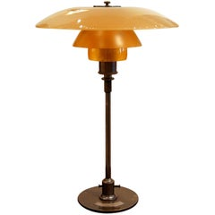 Poul Henningsen 'PH', Early Table Light, 4/3 Amber Shades, Pat. Appl, 1929