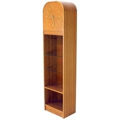 Secret Compartment Grandfather Clock Danish Modern Teak Bookcase Shelf