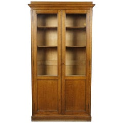 Two-Door Glass Book Case from France, circa 1930
