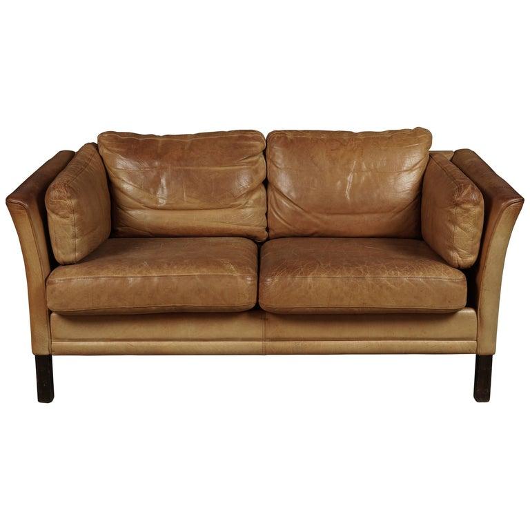 Midcentury Two-Seat Sofa from Denmark, circa 1970