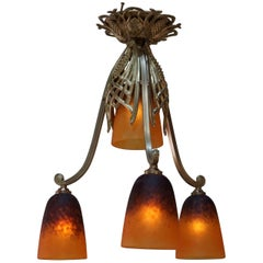 French Art Deco Chandelier by Charles Schneider