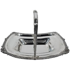 English Georgian Neoclassical Sterling Silver Basket