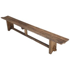 Rustic Antique French Farm Table Bench