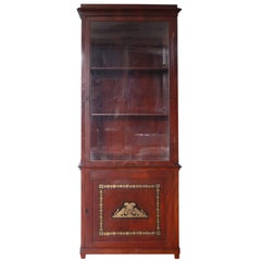Russian Neoclassical Mahogany Brass-Inlaid Cabinet, circa 1820