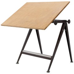 Wim Rietveld & Friso Kramer Industrial Drafting Table for Ahrend de Cirkel