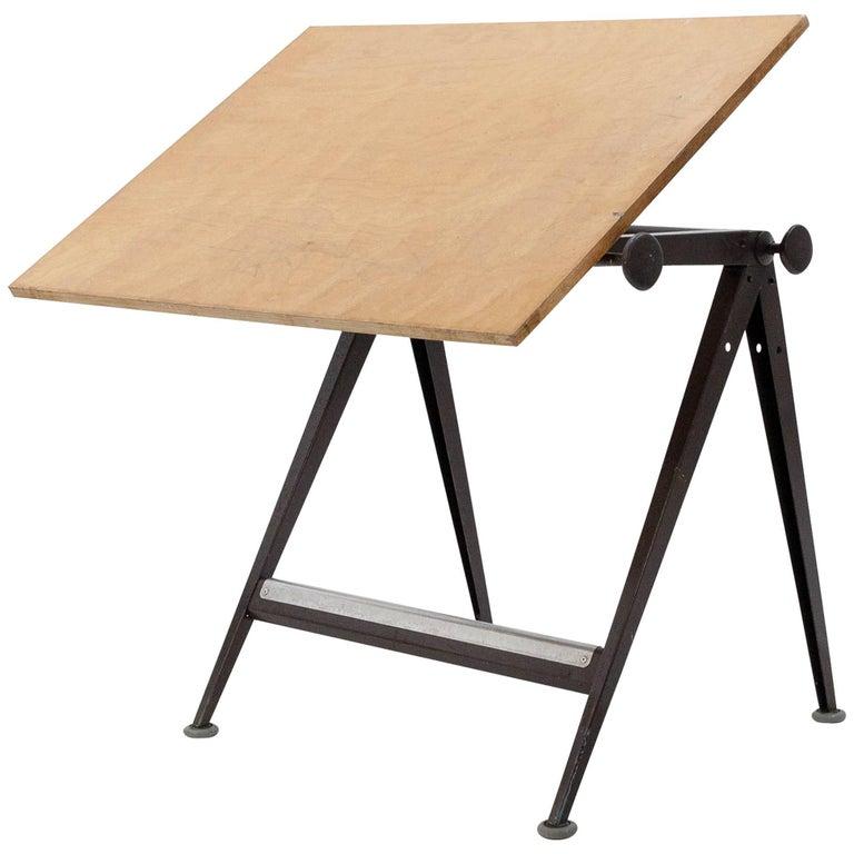 Wim Rietveld & Friso Kramer Industrial Drafting Table for Ahrend de Cirkel