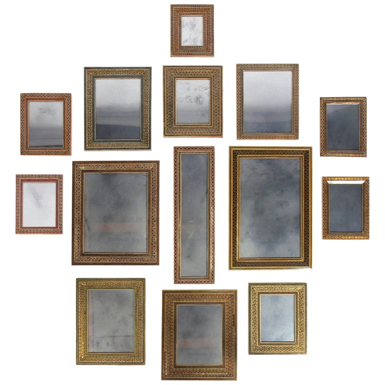 Collection of Moroccan Mosaic Framed Mirrors For Sale