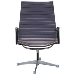 Modern Charles Eames for Herman Miller Aluminium Group Lounge Chair with Arms