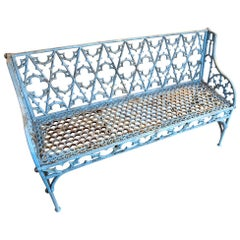 Gothic Cast Iron Garden Bench