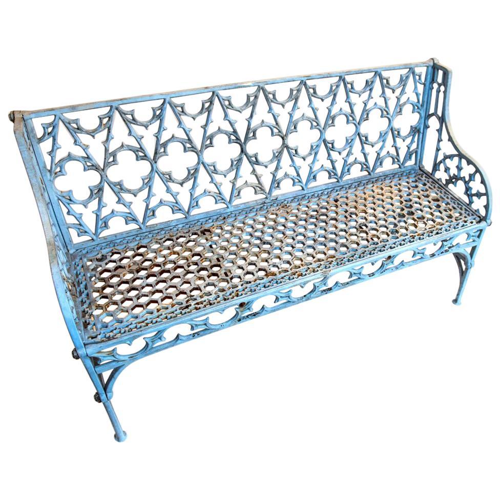 Gothic Cast Iron Garden Bench