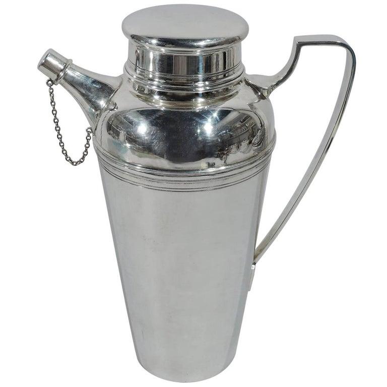 Tiffany Modern Sterling Silver Cocktail Shaker