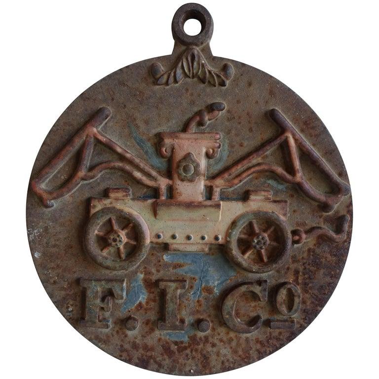 Rare Antique Cast Iron Fire Mark Firemen\'s Insurance Company For ...