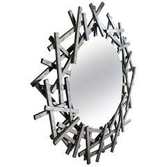 20th Century Modern Metal Mirror