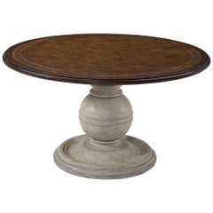 French Art Deco Round Pedestal Dining Table