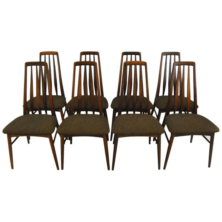 "Danish Rosewood ""Eva"" Chairs by Niels Koefoed for Hornslet Mobelfabrik"