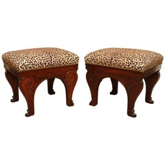Two French Stools in Mahogany