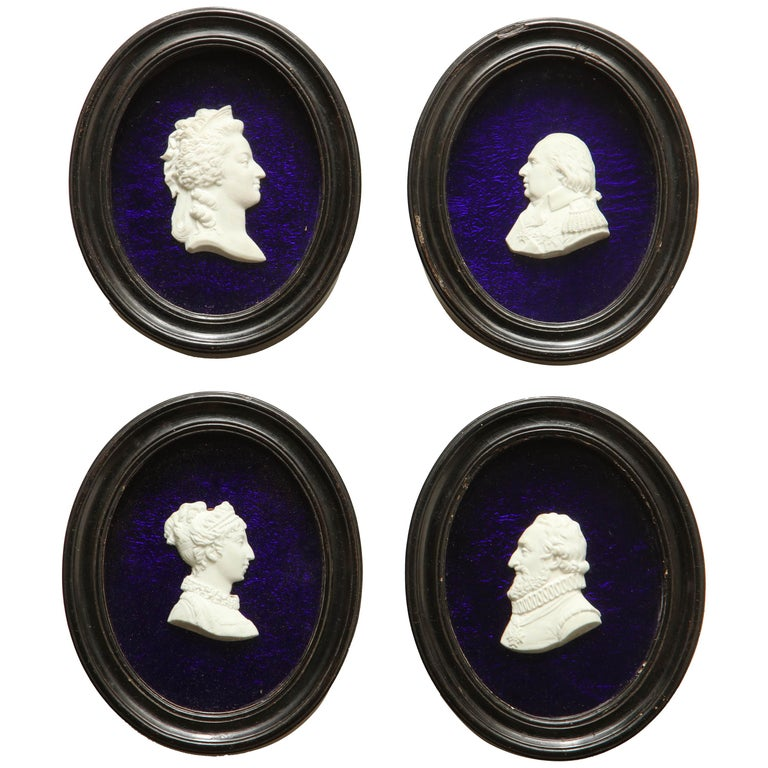 Four 19th Century French Historical Bisquet Profiles