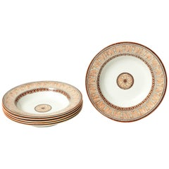 Six, 19th Century Copeland Neoclassical Soup Plates