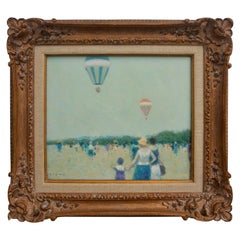 Oil on Canvas Painting, Hot Air Balloons