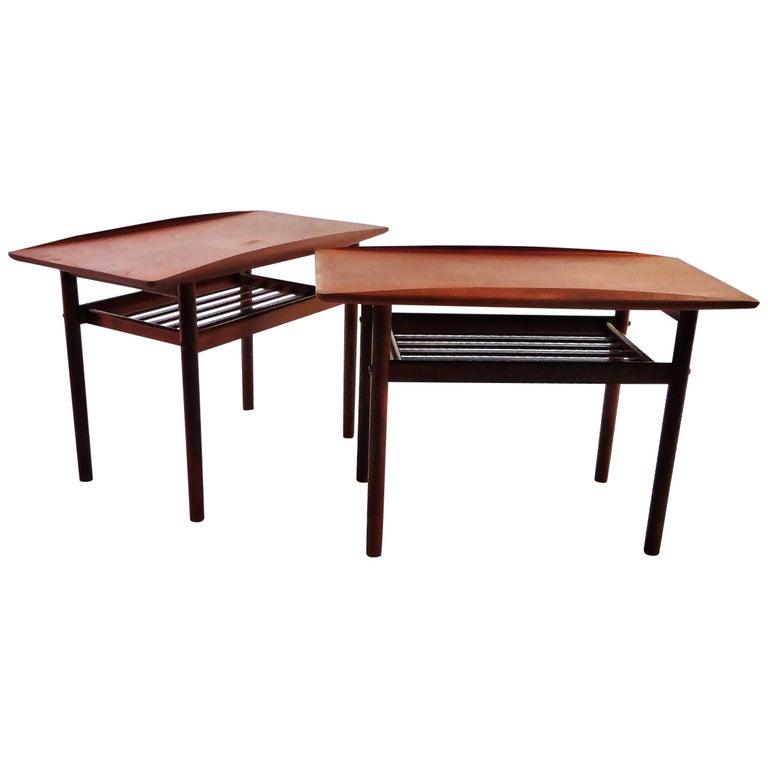 1960s Grete Jalk Teak Side Tables for Poul Jeppesen For Sale