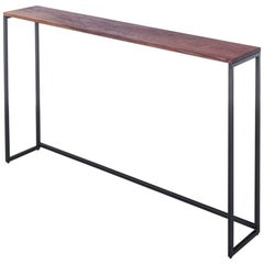 Frame 1x1 Console by Uhuru Design with Walnut Top and Blackened Steel Base